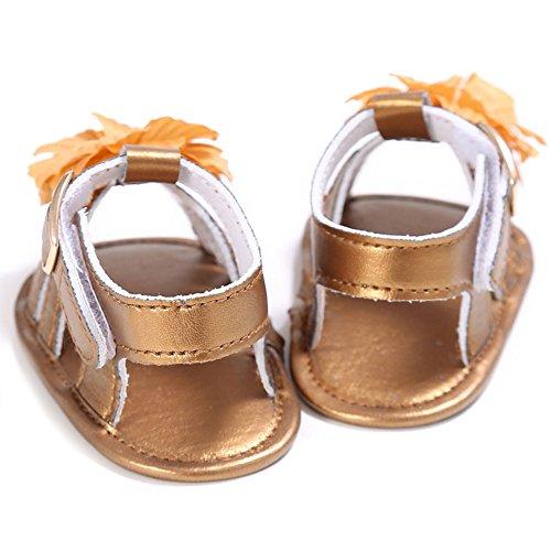 Sandals Bébés Filles En Salle Chaussures Premiers Pas Or