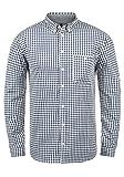 Redefined Rebel Macklin Herren Freizeithemd Hemd Mit Karomuster Und Button-Down-Kragen Aus 100% Baumwolle, Größe:M, Farbe:Navy