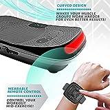 4D Vibrationsplatte – Leistungsstark mit 3 leisen Motoren | Leicht zu Bedienen | Magnetfeldtherapie Massage | Ultra Komfort – Curved Design | 4.0 Bluetooth Lautsprecher | Vibration Oszillation - 5