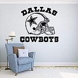 HLLCY New Fashionable Quote Dallas Cowboys Vinyl Wandaufkleber Fußball Logo Sport Wandtattoos Abnehmbare Dekoration