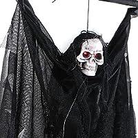 Rubility®Halloween Giocattoli Voice Control Fantasma Orrore giocattoli elettrici Bar decorazioni può urlare nero