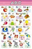 English Alphabet Chart for Kids | CAPITAL and SMALL Alphabet chart | Educational Poster | Learning Chart-100yellow
