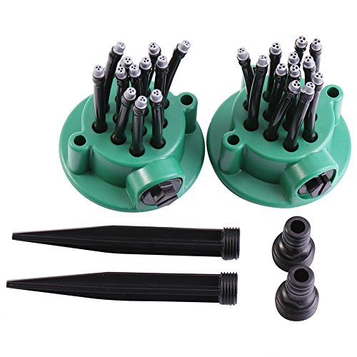 Yosoo 2Pcs Rasensprenger - Qualität einstellbar Rasensprenger Garten Sprinkleranlage Kit vielseitig Gemüsepflanzen Rasen Bewässerungssystem ist einfach zu bedienen