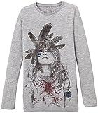 Name it Kids Shirt Langarmshirt NENIKA BIO Baumwolle 1310515, Grau (Grey Mélange), 134/140
