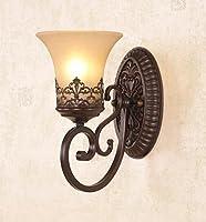 Nom du produit: Lampe de mur de verre américainAbat-jour et matériel auxiliaire: verreLampe Matériau du corps: ferLampe auxiliaire Matériau du corps: résineMatériau de l'abat-jour: verreType de source de lumière: lampes à incandescence et lampe...