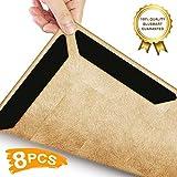 Teppichunterleger (8pcs) - wiederverwendbar für verschiedene Böden und Teppich-Pads (schwarz)