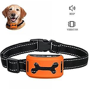 Jingfude [nouvelle version 2017] rechargeables chien d'entraînement de contrôle d'aboiement Collier bip/vibration/sensibilité anti écorce collier réfléchissant pour les petits moyens grands chiens