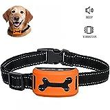 Jingfude Perro Anti Ladridos Collar Entrenamiento Control Recargable Beep Vibración Sensibilidad Antiladridos Reflectant para Pequeños Medianos Grandes Perros