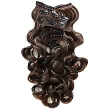 PRETTSHOP clip nelle estensioni dei capelli Set 7pcs 60cm(24
