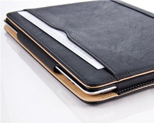 iPad Air und Air 2, JAMMYLIZARD Ledertasche Smart Cover (5. und 6. Generation), SCHWARZ & HONIG