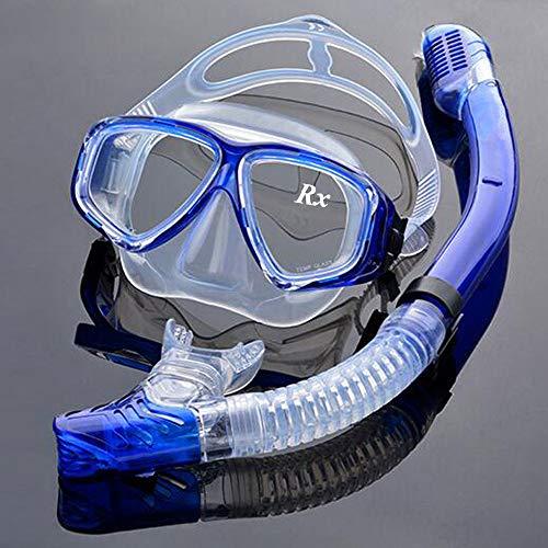 EnzoDate optische Tauchen Gear Kit Myopie Schnorchel Set, unterschiedlichen Stärke für jedes Auge kurzsichtig trocken Top Tauchermaske