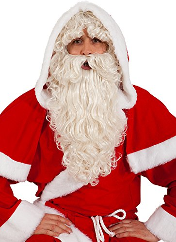 Santa Claus Set, natur Nikolaus-Set Perücke Bart ()