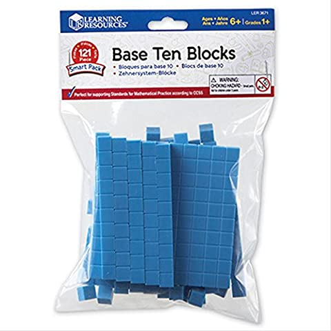 Learning Resources Base Ten Blocks Activity Set - Set of 121