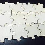 Amosfun Holz Scheiben Holz Puzzle Natürliche Holz Ausschnitte Tisch Streu Deko für DIY Handwerk zum Basteln Bemalen 3cm 50 Stück - 6