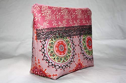 Lilli Löwenherz handgemachte Kulturtasche Marrakesch Ornaments pink