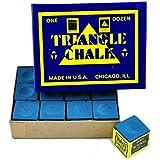 Triangle Chalk Billiard Chalk (12 Piece) Blue