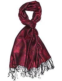 LORENZO CANA Marken Herrenschal Schaltuch opulentes Muster in harmonischen Farben mit Fransen 70 x 180 cm 100% Modal 7810511