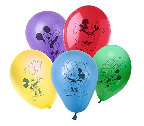 MWS2687 - PB10022 Pack de 30 globos con motivo de MICKEY MOUSE de DISNEY - decoración para fiestas de