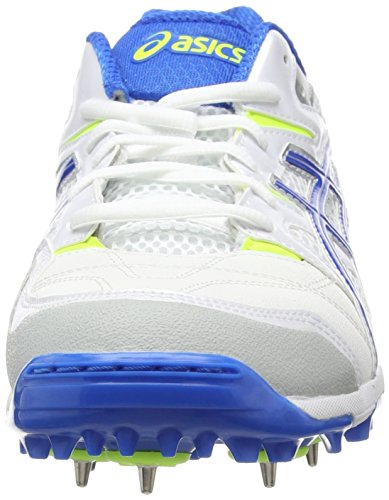 Asics Gel-gully 5, Chaussures de Cricket homme Blanc (white/electric Blue/flash Yellow 0139)