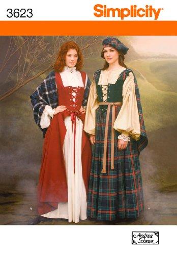 Celtic Kostüm Woman - Simplicity Schnittmuster 3623 HH Schnittmuster für Kostüme
