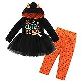 Riou Kinder Langarm Halloween Kostüm Top Set Baby Kleidung Set Infant Kleinkind Baby Mädchen...