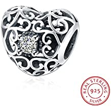 Plata de Ley Corazón HMILYDYK Crystal Cz Encanto con cristales de Swarovski Bead Fit Pandora charms pulseras