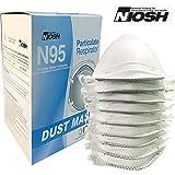 Raytex N95 Atemschutzmaske mit Ventil, NIOSH-zertifiziert, 4 lagig, für Allergene, Mähen, Schleifen, Sägen, Fegen, Holzarbeiten, Gartenarbeit, Staub, Mehl, Eisen