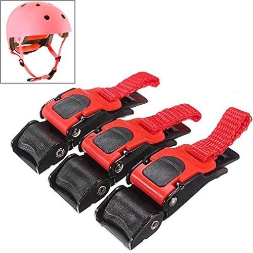 Fattonny Helmschnalle mit Schnellverschluss für Motorradhelm, Kinnriemen, Geschwindigkeitsclip, 3 Stück