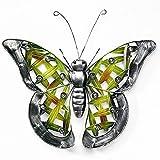 Décoration, papillon en métal avec de l'acrylique de perles