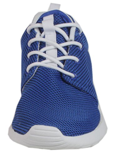 Mitchell - Laufschuhe Damen Herren Unisex Mesh Gewebe Atmungsaktiv Turnschuhe Schuhe Sportschuhe Runner Fitness Training Jogging Cross verschiedene Farben 36 bis 46 Royalblau