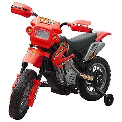 SENLUOWX Kinder Motorrad 2 km/h Akku Rot Kinderfahrzeug WARNHINWEIS: Nicht für Kinder unter 36 Monaten geeignet. von SENLUOWX