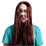 qiaoaoa Longue Perruque Barbe Latex Visage Complet Effrayant fantôme Masque Halloween Costume Party Props Masques Drôle Cosplay Mascarade