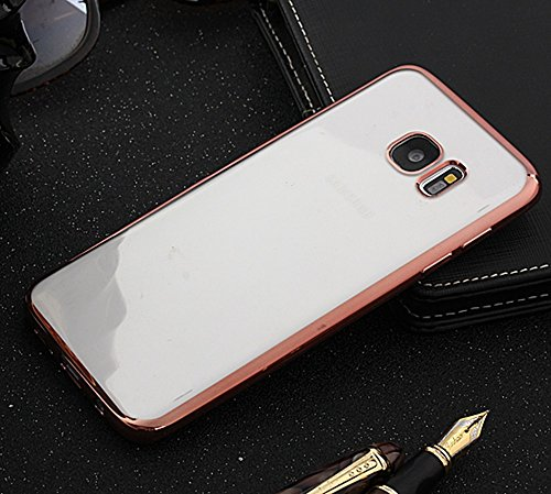 Für Samsung Galaxy S7 Edge Cover Case Ultra Thin Transparent Galvanisieren TPU Gel Back Cover Soft Schützende Stoßfänger Abdeckung ( Color : C ) C