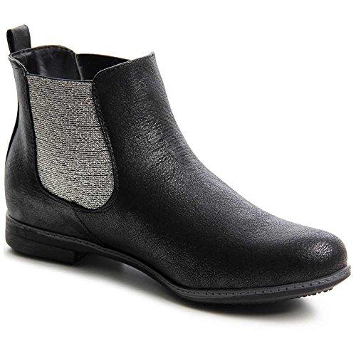 topschuhe24 704 Boots Stiefeletten Chelsea Boots Schwarz