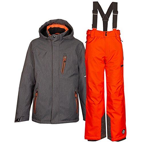 killtec Kinder Skianzug Größe 128 Funktionsjacke Funktionshose Orange Grau