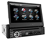 Power Acoustik PTID8920 DVD Receiver with 7-Inch Flip-Out Touchscreen Monitor (Black)