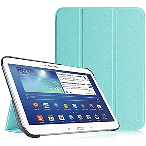 Funda Samsung Galaxy Tab 3 10.1 - Fintie Ultra Slim Smart Funda Case Cover con Stand Función y Imán Incorporado para el Sueño/Estela para Samsung Galaxy Tab 3 10.1 pulgadas P5200 / P5210