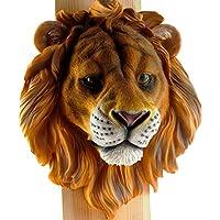 Gran pantalla soporte de pared para colgar adorno de cabeza de animal decoración realista resina