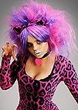 Womens Nette purpurrote und rosafarbene Cheshire-Katze-Art-Perücke