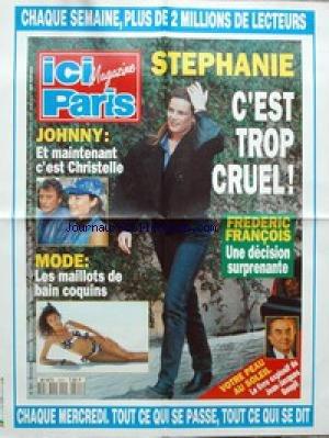 AFFICHE DE PRESSE [No 2501] du 09/06/1993 - STEPHANIE DE MONACO - FREDERIC FRANCOIS - JOHNNY ET CHRISTELLE - MODE - LES MAILLOTS - J.J. GOUPIL - LESOLEIL ET LA PEAU.