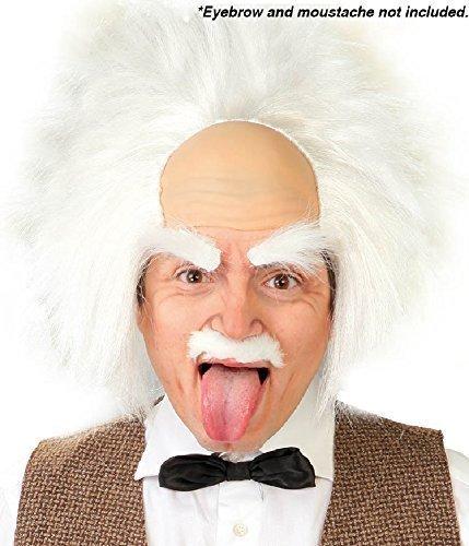 Fancy Me Herren Damen Albert Einstein Verrückter Wissenschaftler Welttag des Buches Wissenschaft Woche Halloween Kostüm Kleid Outfit Perücke (Einstein Halloween Perücke)