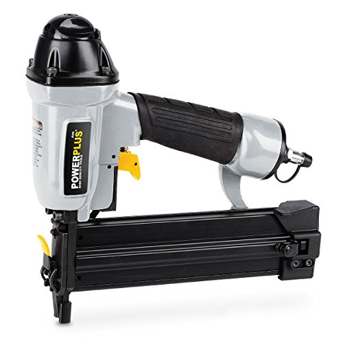 Powerplus POWAIR0311 8.3bar Black, Silver Pneumatic Nailer – Druckluftnagler (16 – 40 mm, 8.3 bar, 78.68 L, Black, Silver)