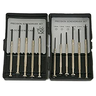 ATOPLEE 11pcs Precision Mini Screwdriver Set For Jewellers Laptop Watch Glasses Mobile