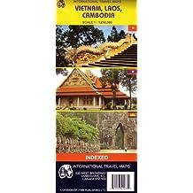 Carte routière : Vietnam - Laos - Cambodge