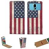 Handy Hülle für - LEAGOO Z7 - Flip Tasche mit Kreditkartenfach - Flip Nano S Amerika USA