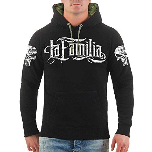 Männer und Herren Kapuzenpullover La Familia Butterfly (mit Rückendruck) Größe S - 8XL Butterfly Hooded Sweater
