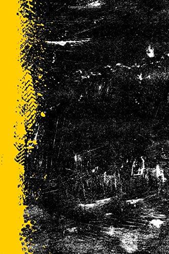 Gold And Black: (6 x 9 Dot Grid) Blank Journal Grunge School Color Notebook por Belle Journals