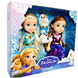 HALO NATION Fashion Frozen Doll Elsa and Anna with Olaf