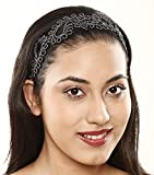 Panache Hair Band Black With Silver Design, Long Lasting Elastic Band, Accessories Collection For Women, Beauty, Hair Care & Styling, 69.