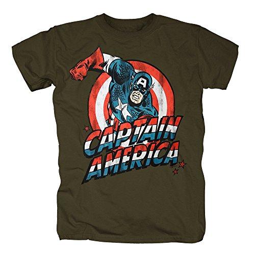 TSP Captain America T-Shirt Herren XS (Kostüme America Retro Captain)